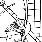 Printable Knight Coloring Page 4