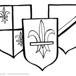 Printable Medieval Shields Coloring Page