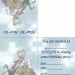 Printable Knight Foldable Invitation