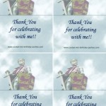 Printable Knight Foldable Thank You Cards