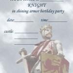 Printable Knight A5 Invitation 1