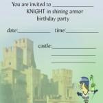 Printable Knight A5 Invitation 2