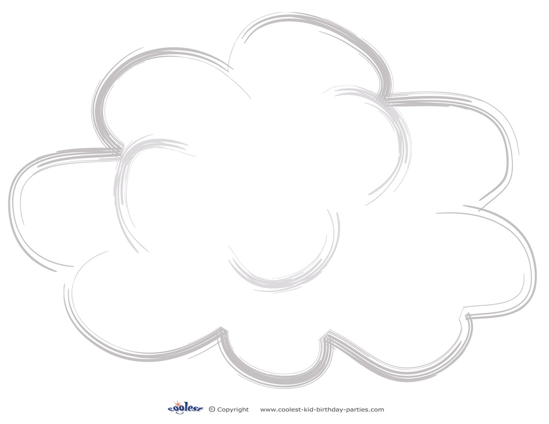 image relating to Printable Cloud titled Weighty Printable Cloud