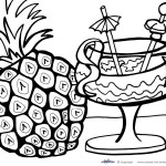 Printable Luau Coloring Page 2
