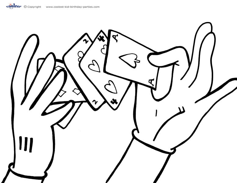 coloring pages magician - photo#32