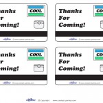 Printable Cool Mall Scavenger Hunt Thank You Cards