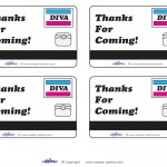 Printable Diva Mall Scavenger Hunt Thank You Cards