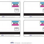 Blank Printable Diva Credit Card Thank You Cards