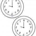 Medium Printable Backward Clocks