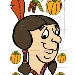 Printable Colored Indian Face 2 Medium-Piece Puzzle