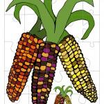 Printable Colored Wild Corn Medium-Piece Puzzle