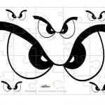 Printable Eyes 1 Medium-Piece Puzzle