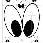 Printable Eyes 2 Medium-Piece Puzzle