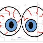 Printable Eyes 3 Medium-Piece Puzzle