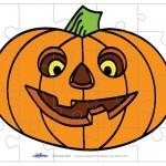 Printable Colored Pumpkin 1 Medium-Piece Puzzle