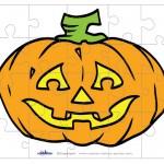 Printable Colored Pumpkin 2 Medium-Piece Puzzle