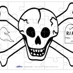 Printable Skull Medium-Piece Puzzle