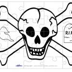 Printable Skull Medium-Piece Puzzle