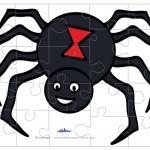 Printable Colored Spider Medium-Piece Puzzle