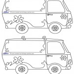 Blank Printable Mystery Van Invitations
