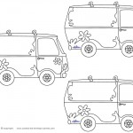 Blank Printable Mystery Van Thank You Cards