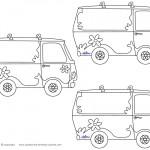 Blank Printable Mystery Van Thank You Cards