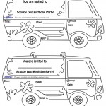 Printable Mystery Van Invitations