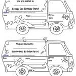 Printable Mystery Van Invitations