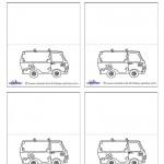 Printable Mystery Van Placecards
