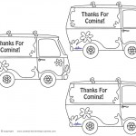Printable Mystery Van Thank You Cards