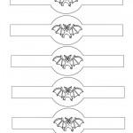 Printable Bat Napkin Holders