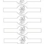 Printable B&W Bear Napkin Holders