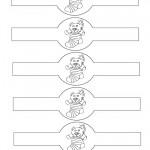 Printable B&W Bear Napkin Holders
