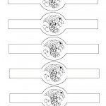 Printable B&W Cornucopia Napkin Holders