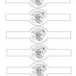 Printable B&W Cornucopia Napkin Holders