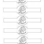 Printable B&W House Napkin Holders