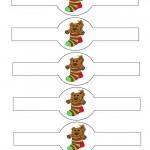 Printable Colored Bear Napkin Holders