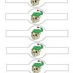 Printable Colored Elf Napkin Holders