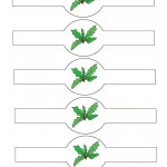Printable Colored Holly Napkin Holders