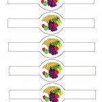 Printable Colored Cornucopia Napkin Holders