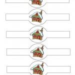 Printable Colored House 1 Napkin Holders