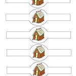 Printable Colored House 2 Napkin Holders