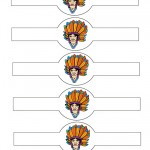 Printable Colored Indian Face 1 Napkin Holders