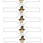 Printable Colored Pilgrim Face 1 Napkin Holders