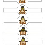 Printable Colored Pilgrim Face 2 Napkin Holders