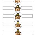 Printable Colored Pilgrim Face 2 Napkin Holders