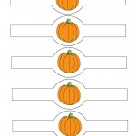 Printable Colored Pumpkin 1 Napkin Holders