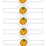 Printable Colored Pumpkin 2 Napkin Holders