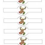 Printable Colored Reindeer Napkin Holders