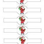 Printable Colored Santa 2 Napkin Holders